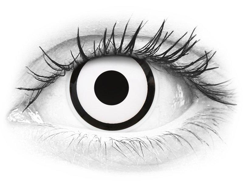 ColourVUE Crazy Lens - White Zombie - nedioptrické (2čočky)