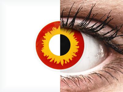 ColourVUE Crazy Lens - Wildfire - nedioptrické (2 čočky)