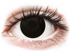 Barevné kontaktní čočky - ColourVUE Crazy Lens - BlackOut - dioptrické (2čočky)