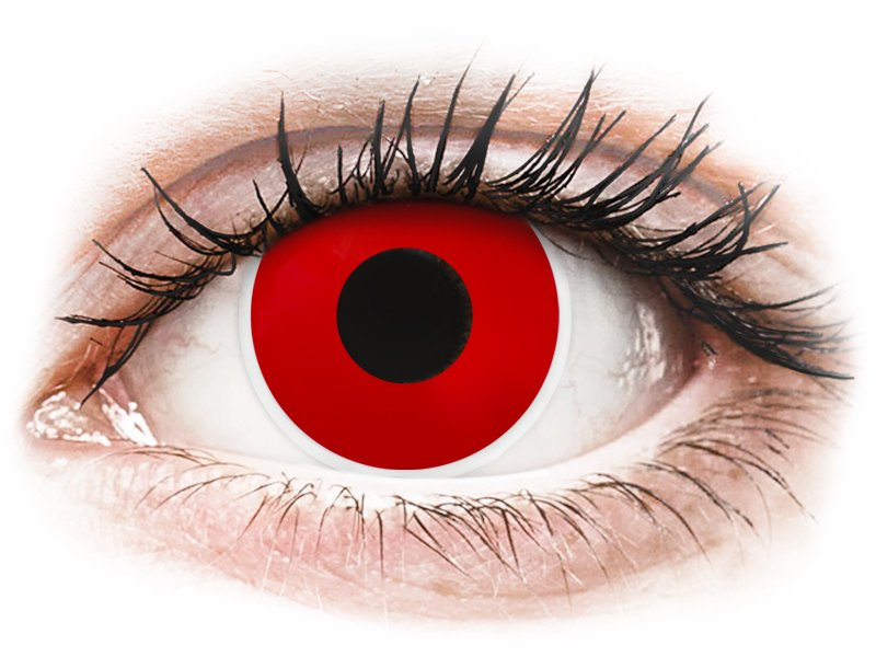 ColourVUE Crazy Lens - Red Devil - dioptrické (2čočky) - Maxvue Vision