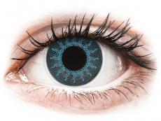 Barevné kontaktní čočky - ColourVUE Crazy Lens - Solar Blue - dioptrické (2čočky)