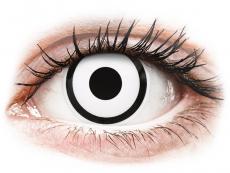 Barevné kontaktní čočky - ColourVUE Crazy Lens - White Zombie - dioptrické (2čočky)