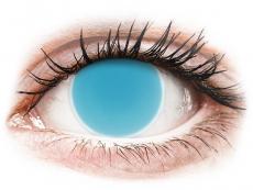 Crazy kontaktní čočky - nedioptrické - ColourVUE Crazy Glow - Electric Blue - nedioptrické (2čočky)
