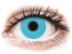 Crazy kontaktní čočky - nedioptrické - ColourVUE Crazy Glow - Blue - nedioptrické (2čočky)