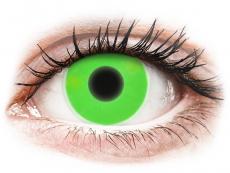 Crazy kontaktní čočky - nedioptrické - ColourVUE Crazy Glow - Green - nedioptrické (2čočky)