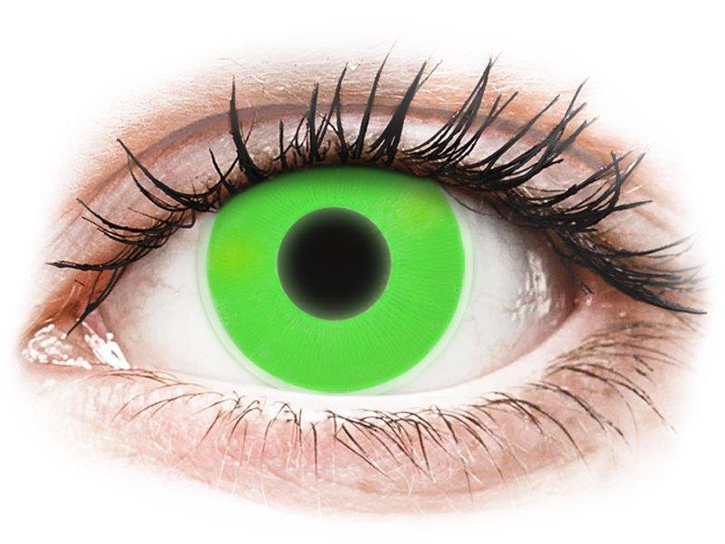 ColourVUE Crazy Glow - Green - nedioptrické (2čočky)