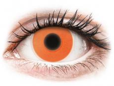 Barevné kontaktní čočky - ColourVUE Crazy Glow - Orange - nedioptrické (2čočky)