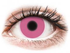 Barevné kontaktní čočky - ColourVUE Crazy Glow - Pink - nedioptrické (2čočky)