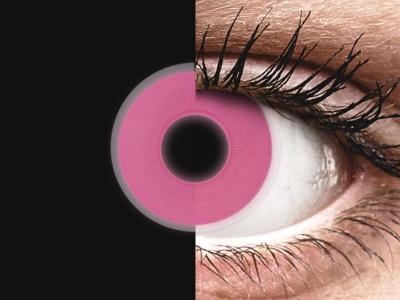 ColourVUE Crazy Glow - Pink - nedioptrické (2čočky)