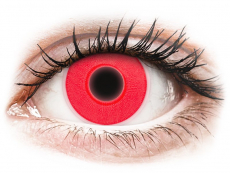Crazy kontaktní čočky - nedioptrické - ColourVUE Crazy Glow - Red - nedioptrické (2čočky)