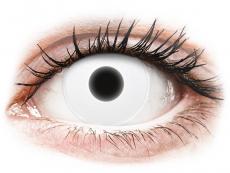 Bílé kontaktní čočky - nedioptrické - ColourVUE Crazy Glow - White - nedioptrické (2čočky)