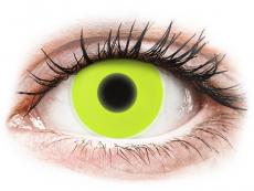 Crazy kontaktní čočky - nedioptrické - ColourVUE Crazy Glow - Yellow - nedioptrické (2čočky)