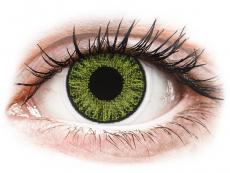 Zelené kontaktní čočky - dioptrické - TopVue Color - Fresh green - dioptrické jednodenní (10čoček)