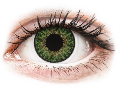 TopVue Color - Green - dioptrické jednodenní (10čoček)