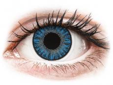 Modré kontaktní čočky - nedioptrické - TopVue Color - Sapphire Blue - nedioptrické jednodenní (10čoček)
