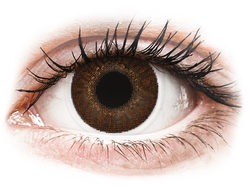 TopVue Color - Brown - dioptrické (2čočky)