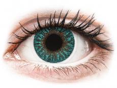 Zelené kontaktní čočky - nedioptrické - TopVue Color - Turquoise - nedioptrické (2čočky)