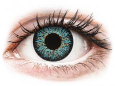 Barevné kontaktní čočky - ColourVUE Glamour Aqua - dioptrické (2čočky)
