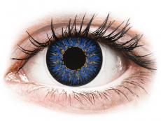 Barevné kontaktní čočky - ColourVUE Glamour Blue - nedioptrické (2čočky)