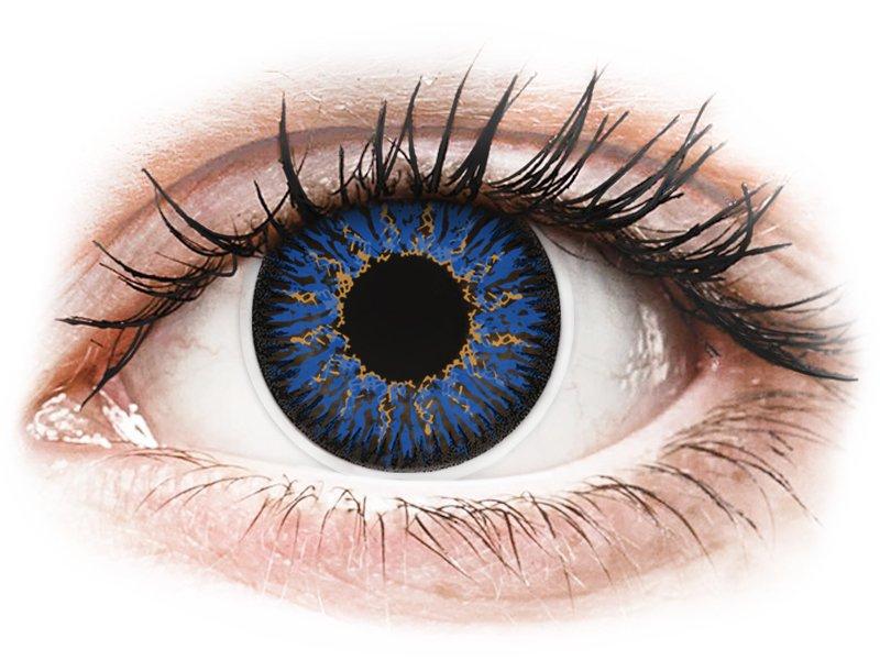ColourVUE Glamour Blue - dioptrické (2čočky) - Maxvue Vision