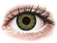 Zelené kontaktní čočky - dioptrické - ColourVUE Glamour Green - dioptrické (2čočky)