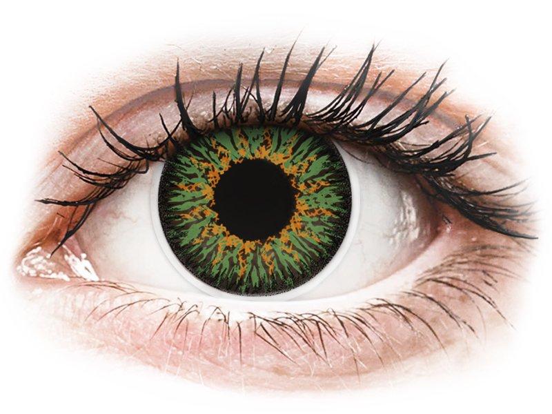 ColourVUE Glamour Green - dioptrické (2čočky) - Maxvue Vision