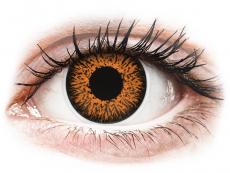Barevné kontaktní čočky - ColourVUE Glamour Honey - dioptrické (2čočky)