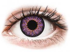 Fialové kontaktní čočky - nedioptrické - ColourVUE Glamour Violet - nedioptrické (2čočky)
