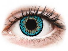 Barevné kontaktní čočky - ColourVUE Elegance Blue - nedioptrické (2čočky)