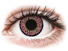 Barevné kontaktní čočky - ColourVUE Elegance Pink - nedioptrické (2čočky)