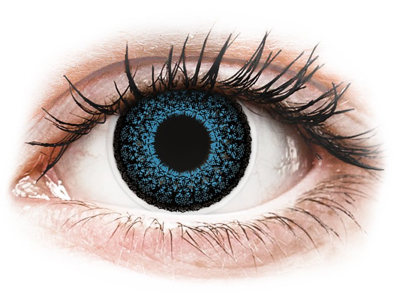 ColourVUE Eyelush Blue - nedioptrické (2čočky) - Maxvue Vision