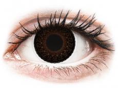 Barevné kontaktní čočky - ColourVUE Eyelush Choco - dioptrické (2čočky)