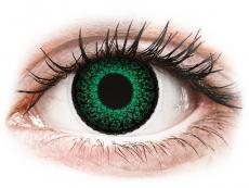 Zelené kontaktní čočky - dioptrické - ColourVUE Eyelush Green - dioptrické (2čočky)