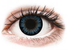 Barevné kontaktní čočky - ColourVUE BigEyes Cool Blue - dioptrické (2 čočky)