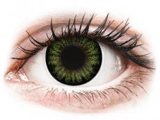 Barevné kontaktní čočky - ColourVUE BigEyes Party Green - nedioptrické (2 čočky)