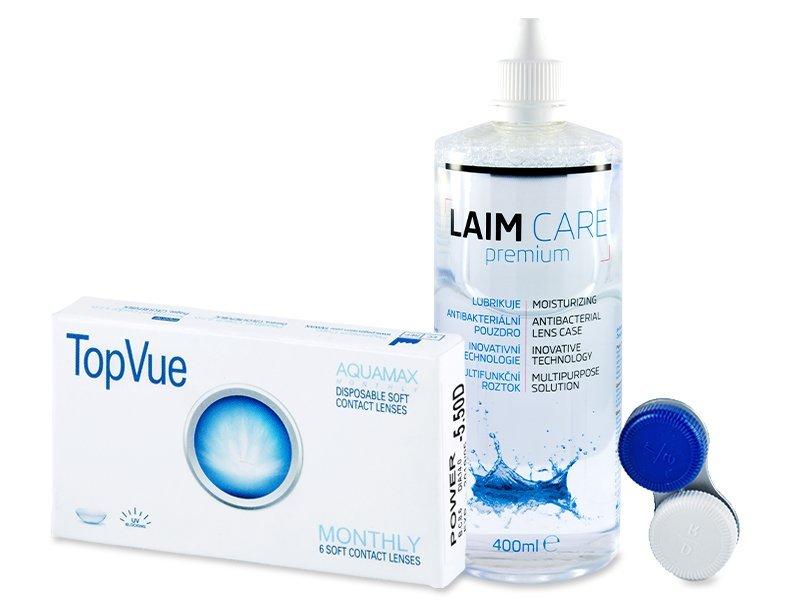 TopVue Monthly (6čoček) + roztok Laim-Care 400 ml - Výhodný balíček