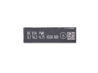 Clariti Multifocal (6 čoček) - Náhled parametrů čoček
