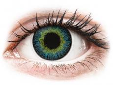 Barevné kontaktní čočky - ColourVUE Fusion Yellow Blue - dioptrické (2 čočky)