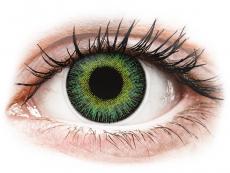 Zelené kontaktní čočky - dioptrické - ColourVUE Fusion Green Yellow - dioptrické (2 čočky)