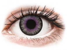 Kontaktní čočky - ColourVUE Fusion Violet Gray - nedioptrické (2čočky)