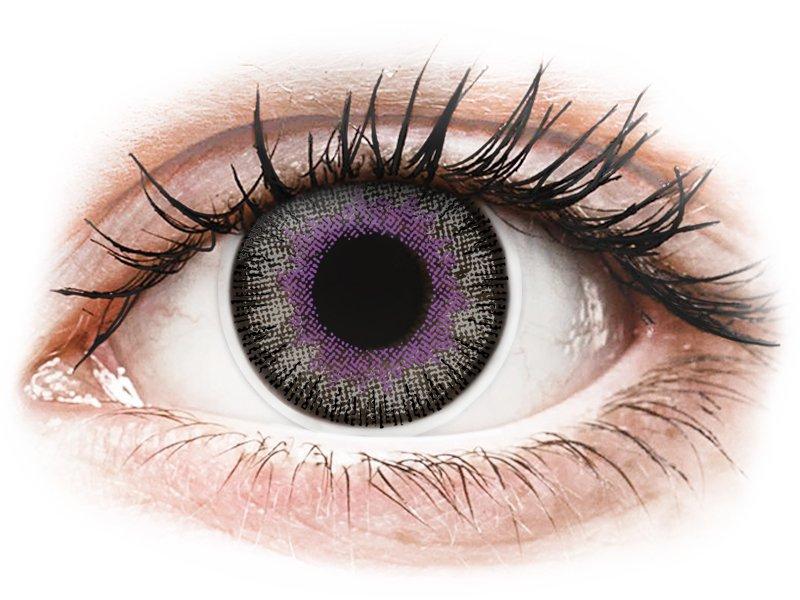 ColourVUE Fusion Violet Gray - nedioptrické (2čočky) - Barevné kontaktní čočky