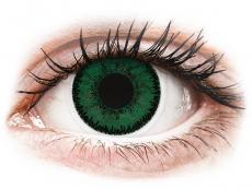 Zelené kontaktní čočky - dioptrické - SofLens Natural Colors Aquamarine - dioptrické (2čočky)