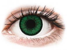 Barevné kontaktní čočky - dioptrické - SofLens Natural Colors Emerald - dioptrické (2čočky)