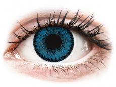 Modré kontaktní čočky - nedioptrické - SofLens Natural Colors Topaz - nedioptrické (2čočky)