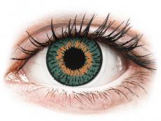 Barevné kontaktní čočky - Expressions Colors Aqua - nedioptrické (1 čočka)