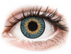 Měsíční kontaktní čočky - Expressions Colors Blue - dioptrické (1 čočka)