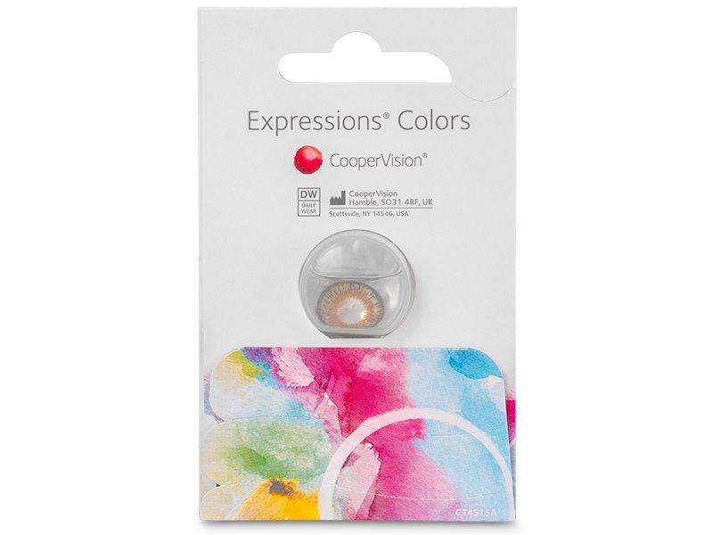 Expressions Colors Dark Blue - nedioptrické (1čočka)