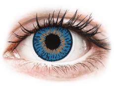 Měsíční kontaktní čočky - Expressions Colors Dark Blue - dioptrické (1 čočka)
