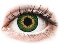 Barevné kontaktní čočky - Expressions Colors Green - nedioptrické (1 čočka)