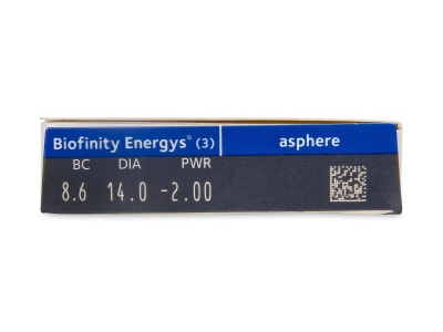 Biofinity Energys (3 čočky) - Náhled parametrů čoček